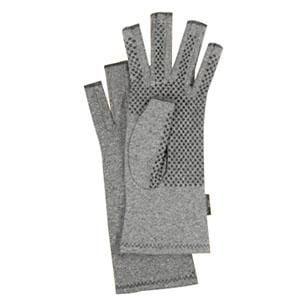Brownmed IMAK Arthiritis Gloves, Soft Breathable Cotton, Heather Gray Medium, 4 Pairs