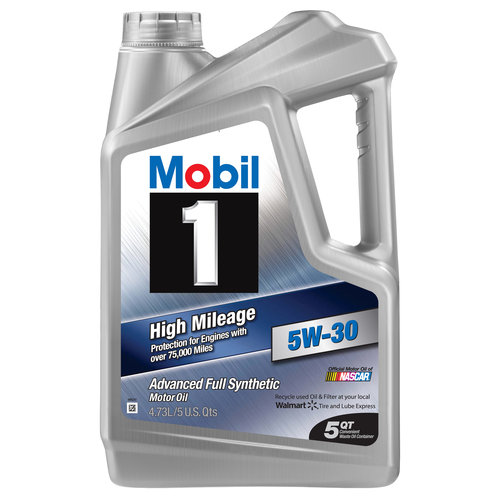 Mobil 1 5W-30 High Mileage Full Synthetic Motor Oil, 5 qt.