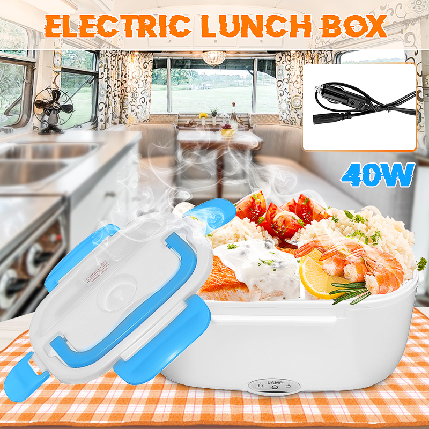 Portable Electric Heated Car Plug Heating Lunch Box Bento Travel Food Warmer 12V