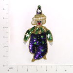 Expo Int'l Mardi Gras Clown Sequin Applique - Halloween And Party Expo