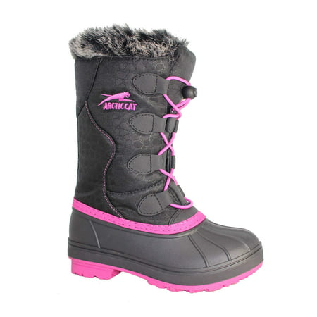 Arctic Cat Toddler Girls' Temperature Rated Winter Snow Boot   - Sparkle Boots For Girls