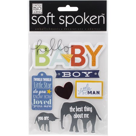 Soft Spoken Themed Embellishments, Little Man Baby Boy (Baby Theme Ideas)