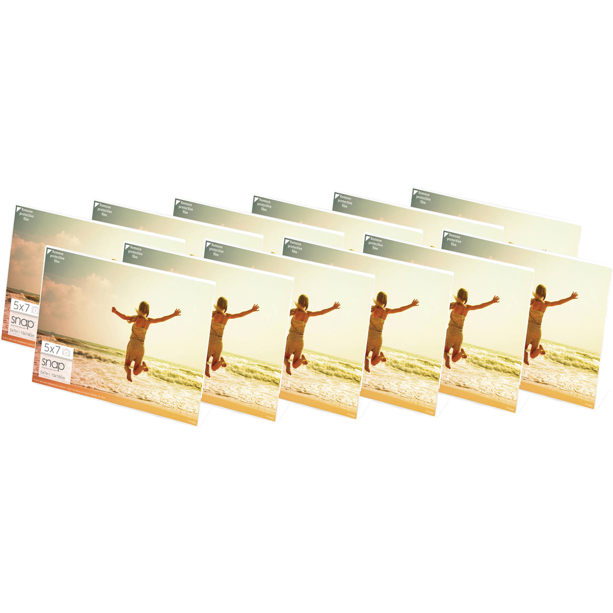 Snap 7x5 Horizontal Acrylic Frame, Set of 12