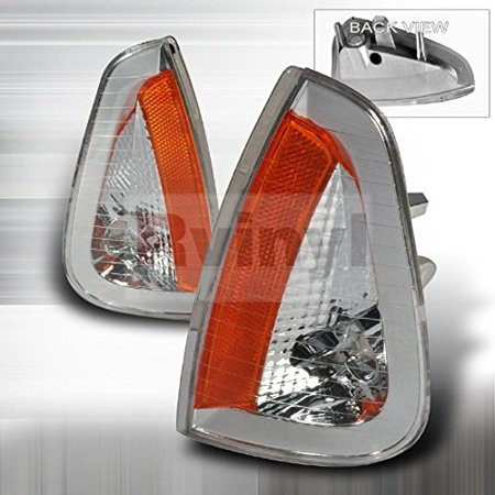 (Spec-D Tuning Dodge Charger 2005 2006 2007 2008 2009 2010 Turn Signal Corner Lights - Chrome)