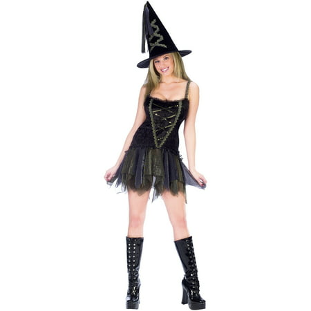 Sassy Flirty Witch Adult Halloween Costume](Adult Witches Costume)
