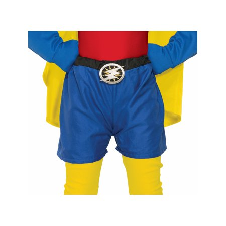 Child Size Be Your Own Superhero Boxer Shorts Blue Halloween Costume Accessory - Child Boxer Costume