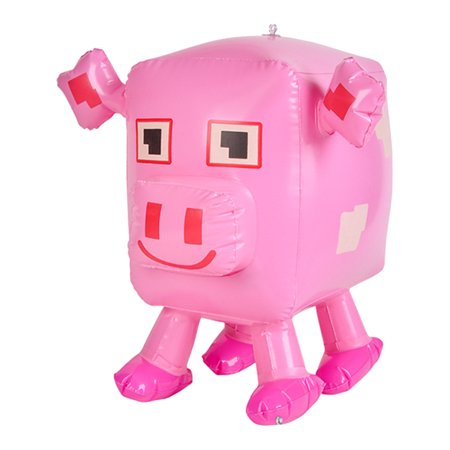 Inflatable Pixel Animal Pig Beach Swimming Pool Party Favor Toy