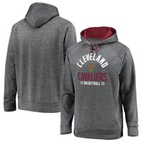 Cleveland Cavaliers Fanatics Branded Big & Tall Battle Charged Raglan Pullover Hoodie - Gray