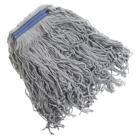 HUBERT Mop Head For Concrete Floors 27 Ounce Grey Poly Cotton Blend Cut End - 1 1/4 W