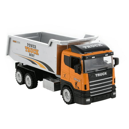 1PCS 1/43 Scale Diecast Metal Car Models Construction Trucks Friction Powered Vehicles Diecast Metal Sprung Trucks