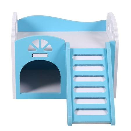WALFRONT Hamster House Pet Rat Petit Animal Château Sleeping House Nid Exercice Jouet Maison Guinée Cochon - image 2 de 5