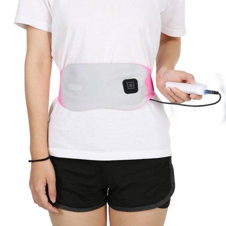 Yosoo Heating Waist Belt Wrap, Electric Lower Back Warm Waist Belt Uterus Abdomen Support Warm Massage Brace Heat Therapy Pad for Women Stomach Abdominal Tension Pain