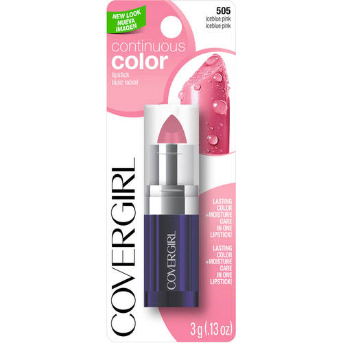 COVERGIRL Continuous Color Lipstick, Iceblue Pink, .13 oz