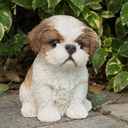 Hi Line Gift Ltd Brown White Shih Tzu Puppy