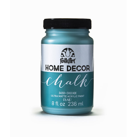 FolkArt Home Decor Chalk Cascade Teal 8 Ounces