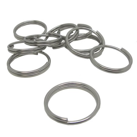 Scuba Diving 24mm Stainless Steel 1.6mm Split Ring for BCD attachment 10pc
