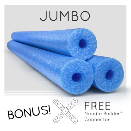 3 Pack Oodles Monster 55 Inch x 3.5 Inch Jumbo Swimming  Pool Noodle Foam Multi-Purpose](Pool Noodle Crafts)