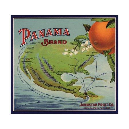 Panama Brand - Santa Barbara, California - Citrus Crate Label Print Wall Art By Lantern Press