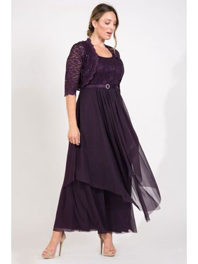 faa6d4e9 Product Image R&M Richards Long Mother of Bride Formal Jacket Dress
