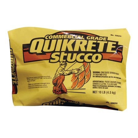 Quikrete  10 lb. Stucco Base Coat (Quikrete 80 Lb Premixed Finish Coat Stucco Mix)