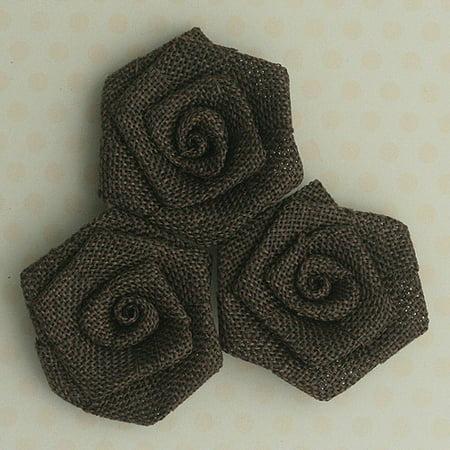 Vintage Linen Burlap Roses, 2