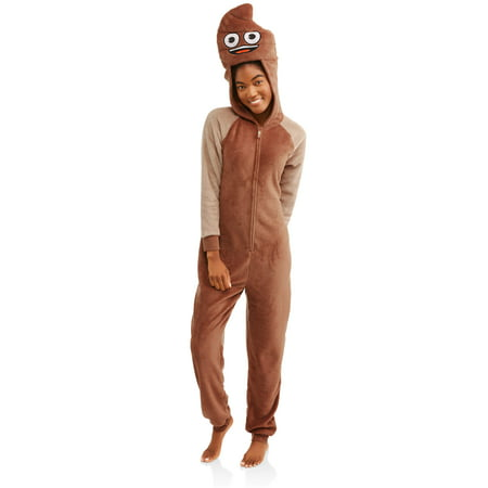 Emoji women's and women's plus sleepwear adult union suit pajama (xs-3x) - All In One Suits For Adults