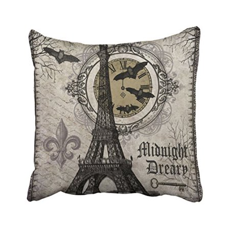 WinHome Modern Vintage French Halloween Eiffel Tower Throw Pillow Covers Cushion Cover Case 20x20 Inches Pillowcases Two Side - Floor 15 Seasons Tower Halloween