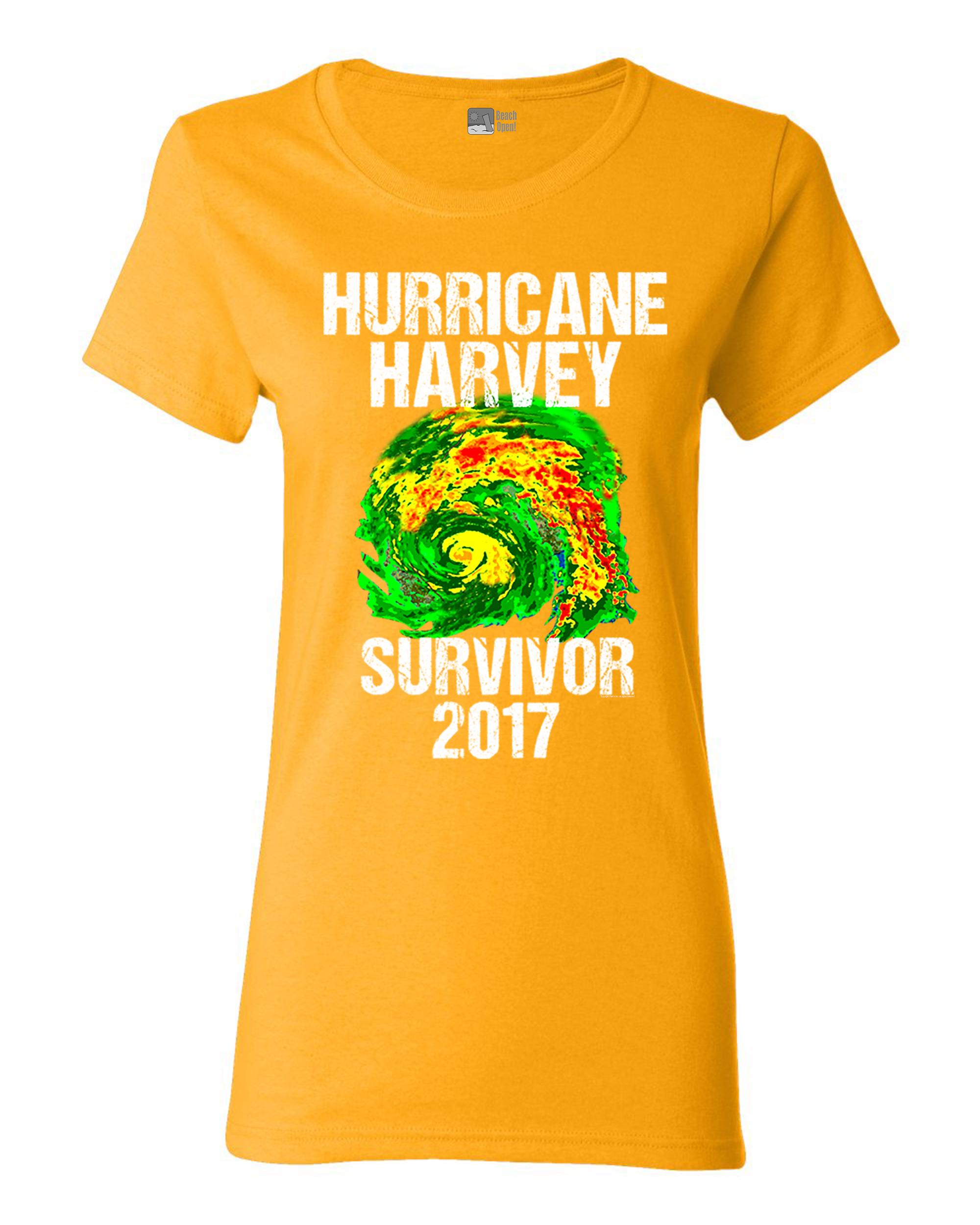 Ladies Hurricane Harvey Storm Survivor Houston Texas 2017 DT T-Shirt Tee