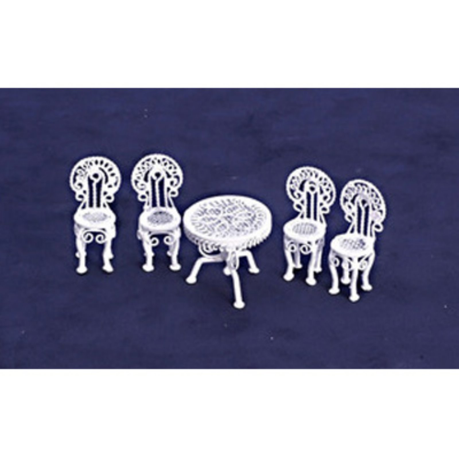 Town Square Miniatures White Patio Set