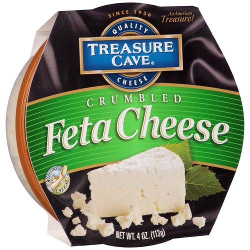 Treasure Cave Crumbled Feta Cheese, 4 oz
