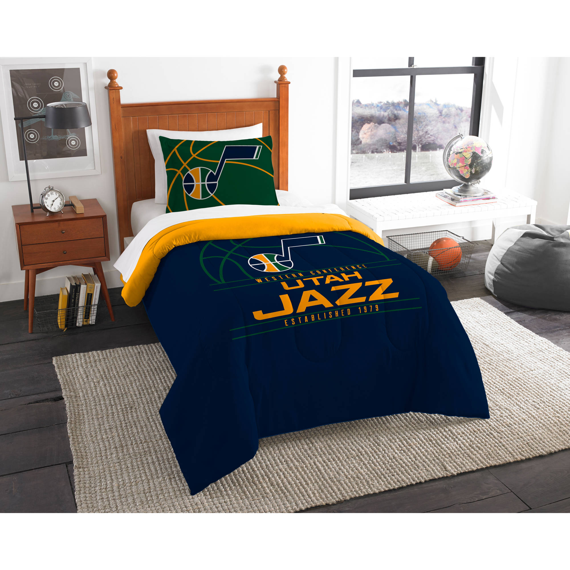 "NBA Utah Jazz ""Reverse Slam"" Bedding Comforter Set"