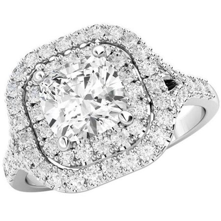Harry Chad Enterprises HC10382-6 2.70 CT 14K White Gold Solitaire with Accents Diamond Fine Ring - image 1 of 1