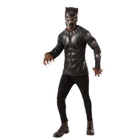 Rubie's Men's Black Panther Costume Top Set, Multi, Large