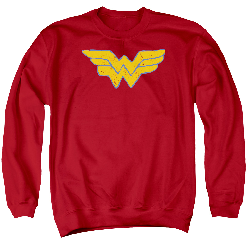 JLA/ROUGH WONDER - ADULT CREWNECK SWEATSHIRT - RED - LG