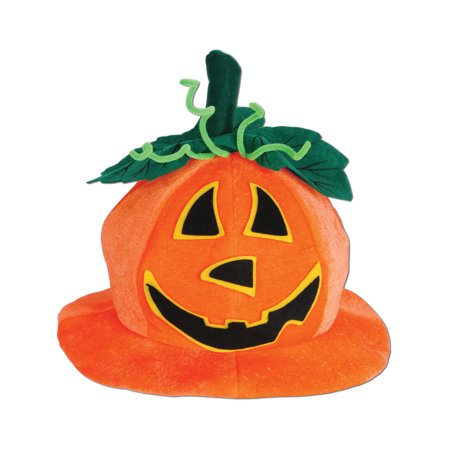 Plush Jack-O-Lantern Pumpkin Hat Halloween Funny Party Hat Costume Accessory