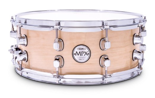 """Mapex 14""""X5.5"""" MPX Birch Snare Drum, Natural Gloss by"""