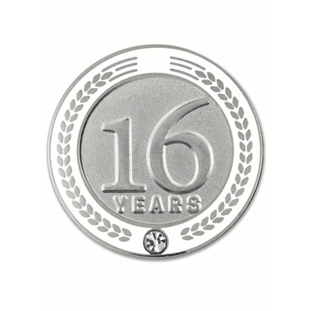 Recognition Gifts (PinMart's 16 Years of Service Award Employee Recognition Gift Lapel Pin -)