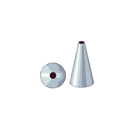 Pastry Tek Stainless Steel #55 Round Piping Tip - 3/4