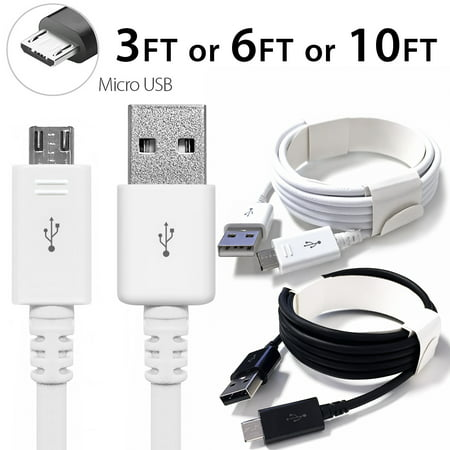 3FT Afflux Micro USB Adaptive Fast Charging Cable Cord For Samsung Galaxy S7 S6 Edge S4 S3 Note 2 4 5 Grand Prime LG G3 G4 Stylo HTC M7 M8 M9 Desire 626 OnePlus 1 2 Nexus 5 6 Nokia Lumia (Best Rom For Nexus One)