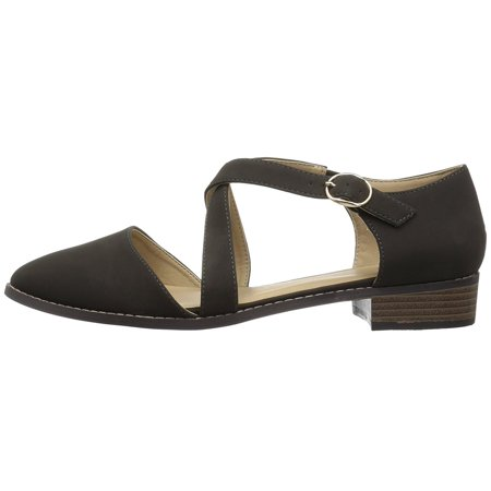 - Womens Elina Pointed Toe Ankle Strap Slingback Flats
