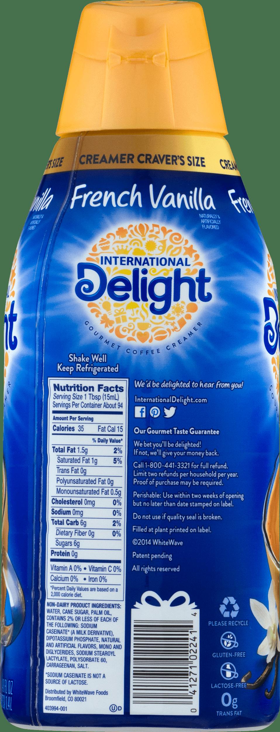 international delight creamer ingredients
