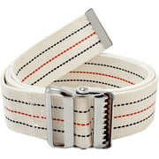 """Gait Belt for Patient Transfer and Walking Aid with Metal Buckle and Belt Loop Holder Beige Washable  LiftAid 60""""L x 2""""W"""