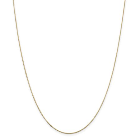 Solid 14k Yellow Gold .80mm Octagonal Snake Chain Necklace 14