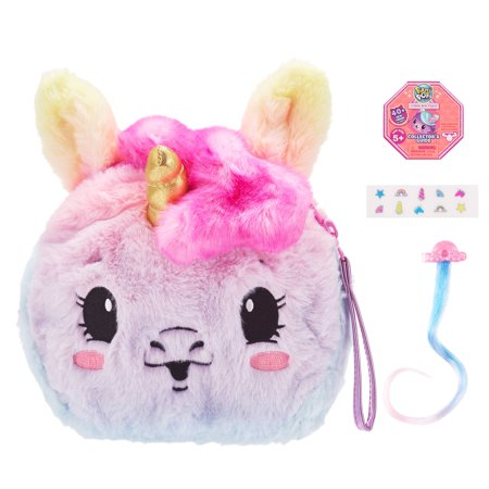 "Pikmi Pops Cheeki Puffs, Beauticorn the Unicorn, Large 7"" Scented Shimmer Plush Toy"