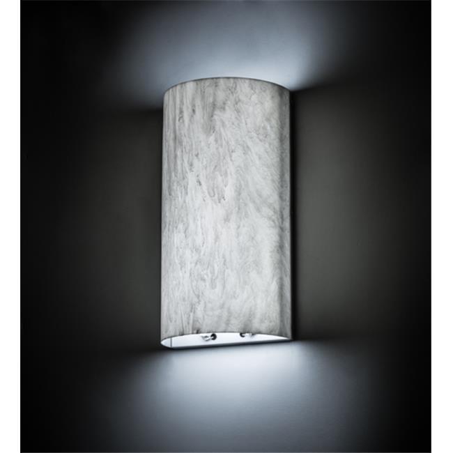 Meyda Tiffany 168299 11 in. Cilindro Wall Sconce, White &...