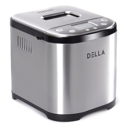 DELLA 2LB Automatic Bread Maker Programmable Timer Kitchen Machine w/ 15 Bread Settings LCD Display ()