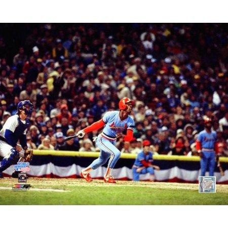 Willie McGee 1982 World Series Action Photo (1982 Photo Press)