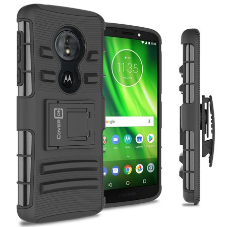 CoverON Motorola Moto G6 Play / Moto G6 Forge / Moto E5 Case, Explorer Series Protective Holster Belt Clip Phone Cover (Camo Motorola Phone Case)