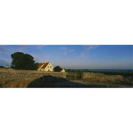 Detached house near the ocean  Faro  Sweden Poster Print by  - 36 x 12