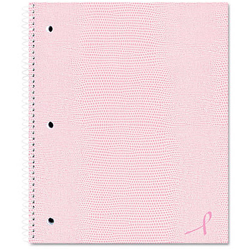 Rediform Pink Ribbon One-Subject Notebook